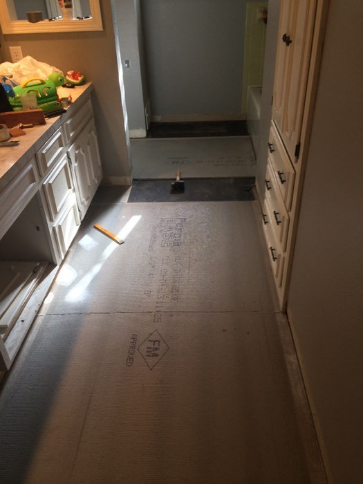 almost done with cement board
