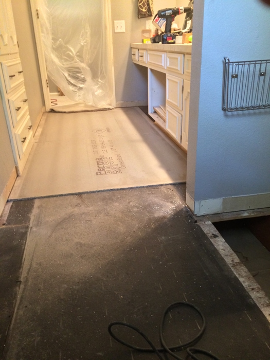 cement board down
