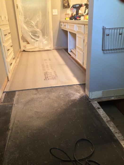 cement board down
