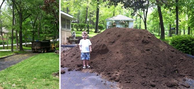 dump truck of dirt