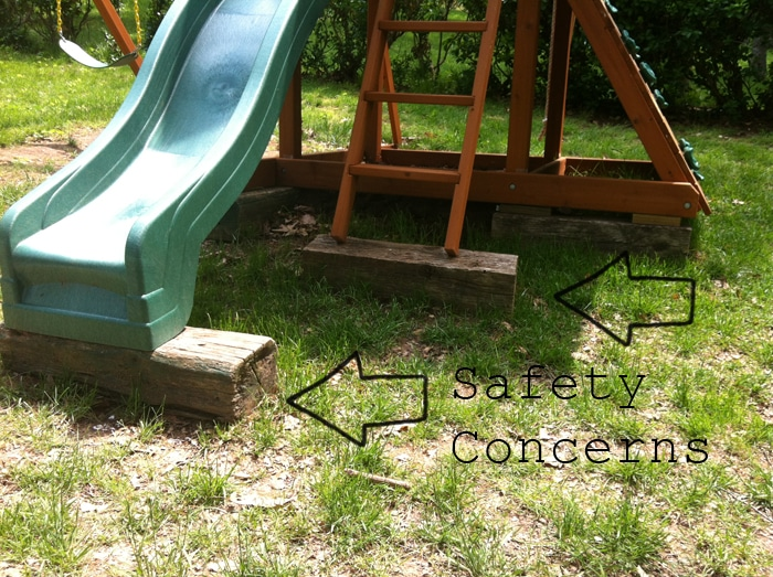 safety concerns with the playset