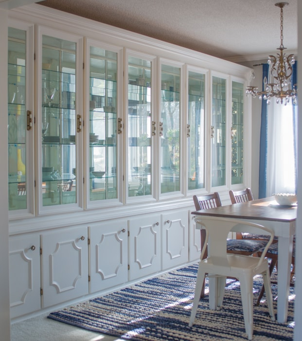 Built ins in Formal Dining Room Built in hutch