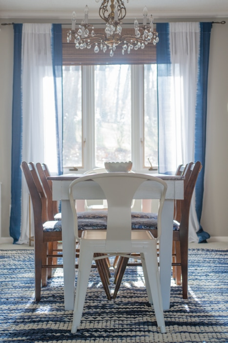 Formal Dining Room with Bright Colors