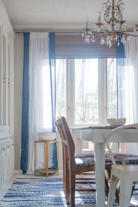 Formal Dining Room with West Elm Curtains