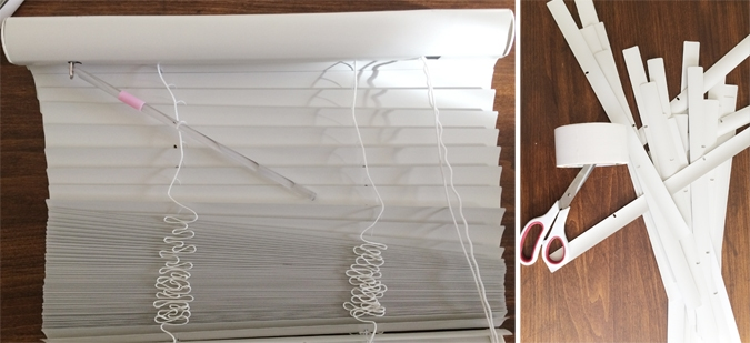 How to make a starburst mirror out of blinds