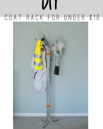 Make this DIY Coat Rack for less than $10!