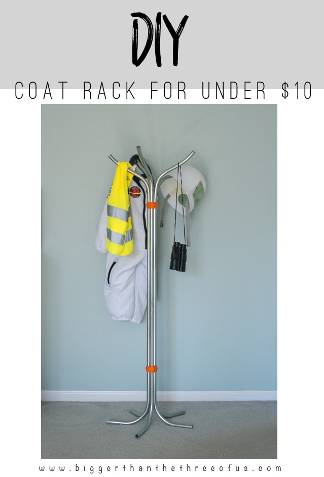 Make this DIY Coat Rack for less than $10!
