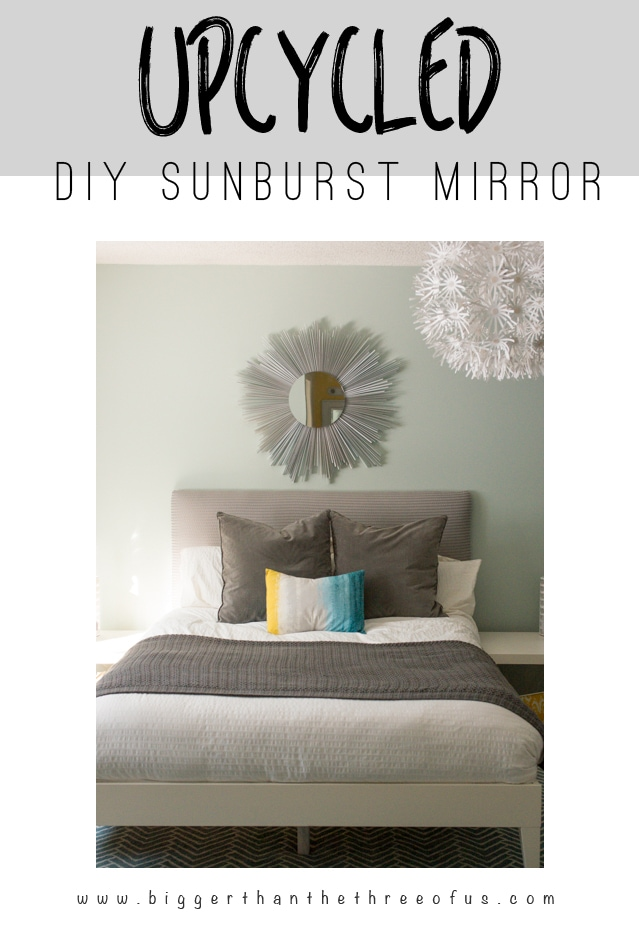 DIY Sunburst Upcycled Mirror