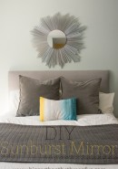 Upcycled DIY Sunburst Mirror
