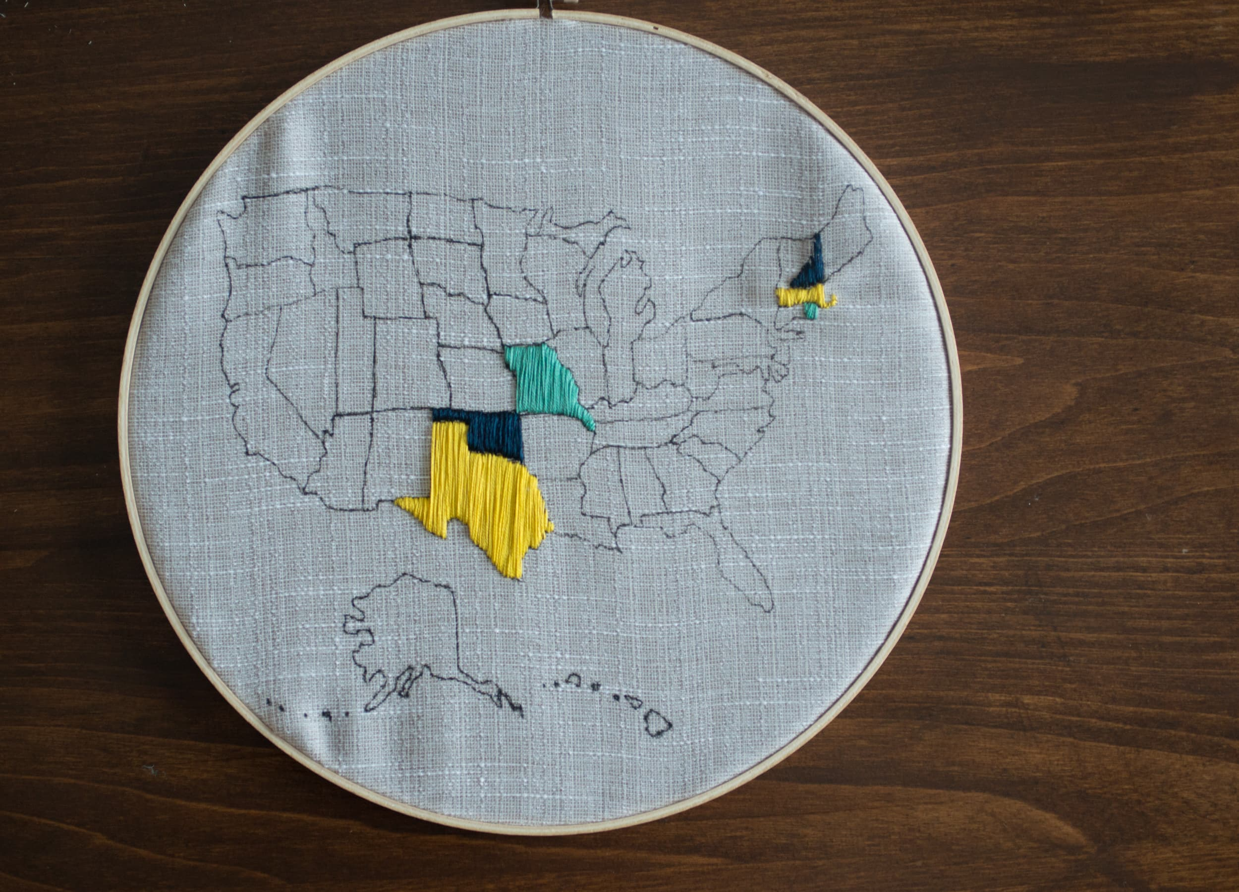 Pinterest made me do it embroidered map bigger than the three of us embroidered united states map gumiabroncs Choice Image