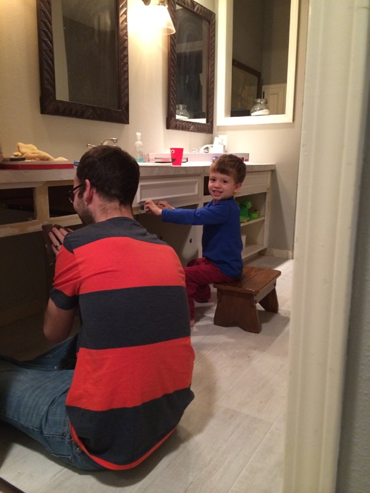 little helper in scraping bathroom cabinets