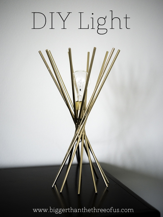 DIY Light out of candlestick