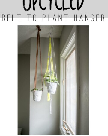 DIY Upcycled Plant Hanger