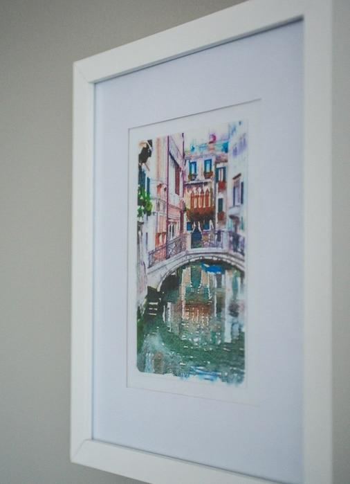 Watercolor printed travel art