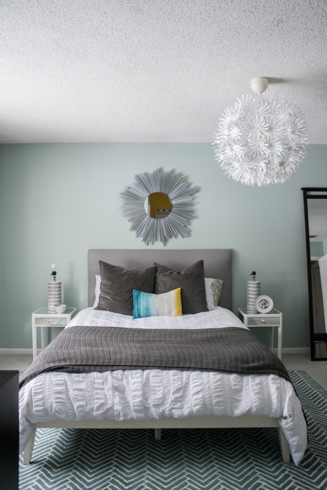 airy and bright master bedroom in progress