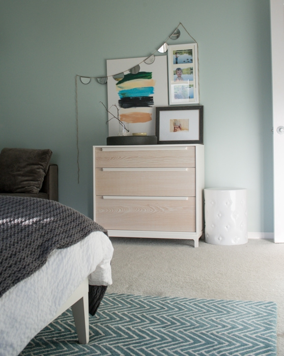 light West Elm dresser in master bedroom