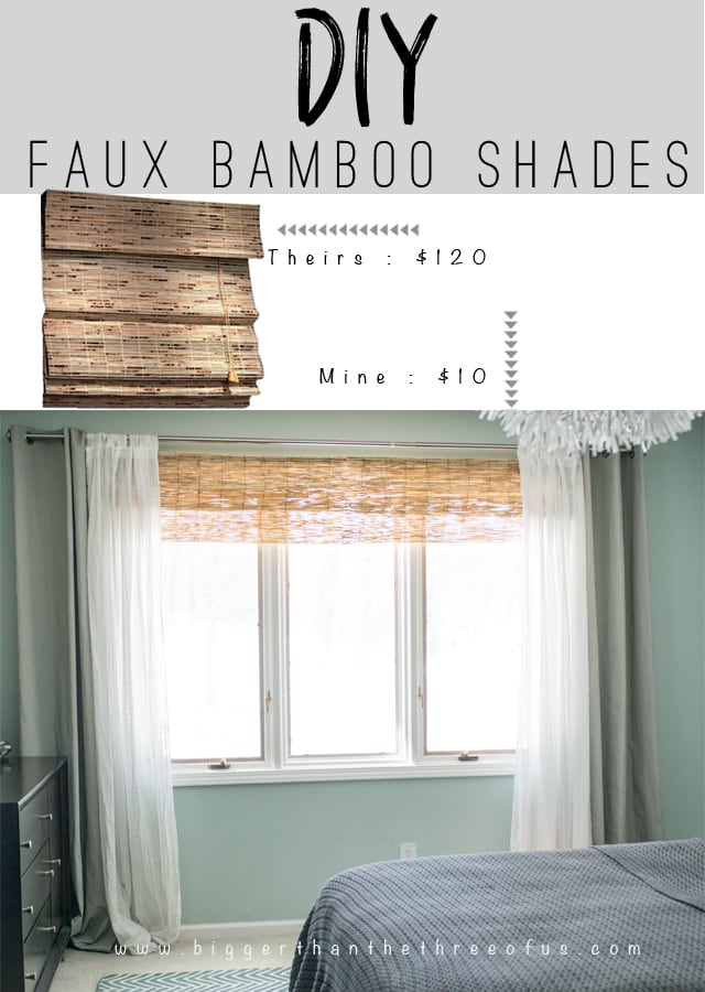 DIY Bamboo Shades - Made from Bamboo Fencing. This DIY is so EASY!
