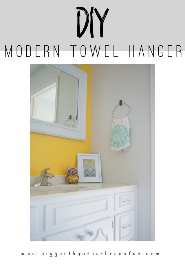This Tutorial will show you how to make a modern DIY Towel Rack (Hanger)