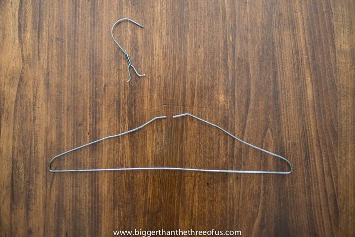 Wire hanger to octagon bath rin