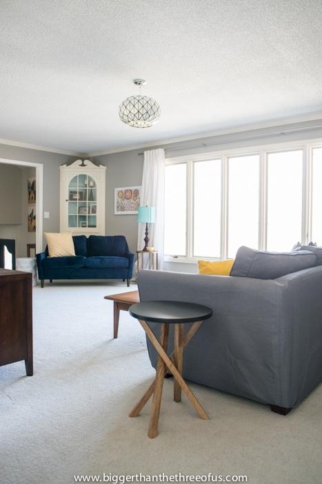 Oversized windows in living room