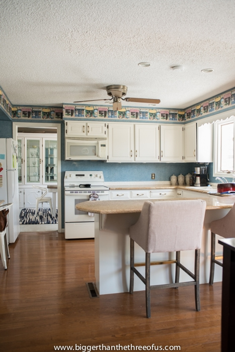 Lovely wallpapered kitchen lol