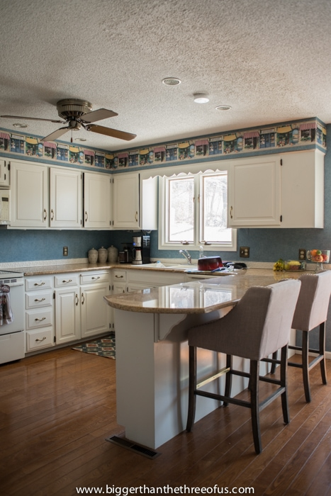 Barstools in kitchen