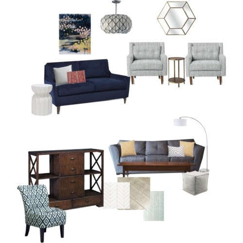 Living Room Mood Board by Bigger Than The Three Of Us