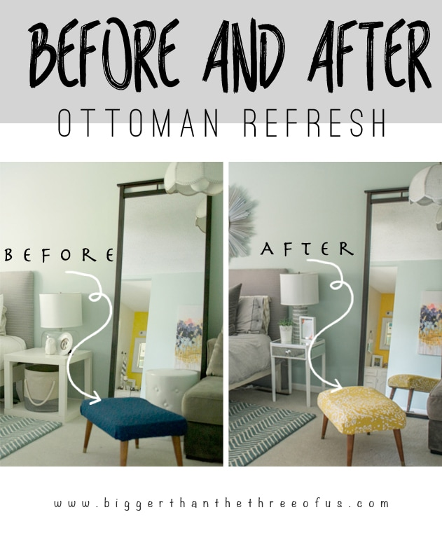 Refresh an Ottoman in Just a few Easy Steps!