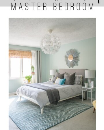 Light and Airy Master Bedroom Reveal with lots of DIY! You won't believe the before/after!