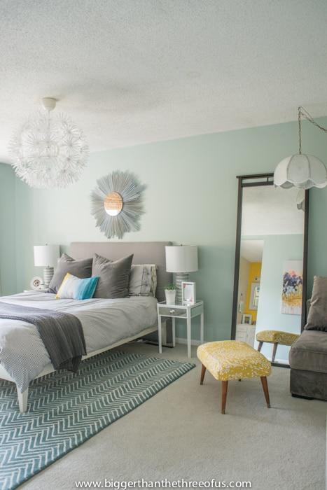Calm, Layered and Minimal Master Bedroom - Bigger Than the Three of Us