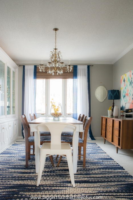 Bright and casual 'formal dining room'