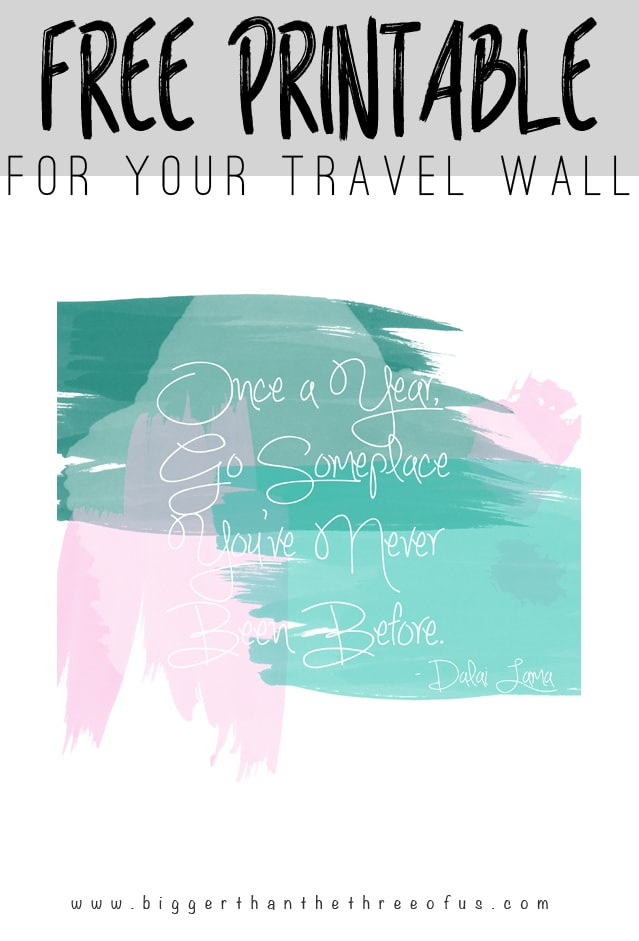 Free Travel Printable by Bigger Than The Three Of Us