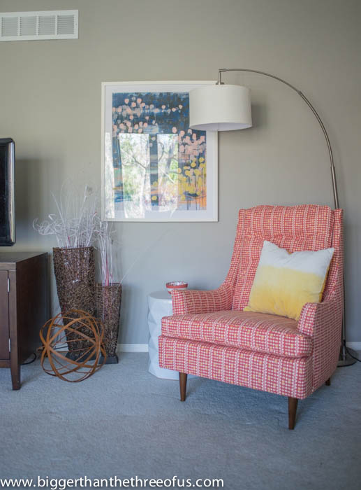 Mid-Century Chair in Living Room