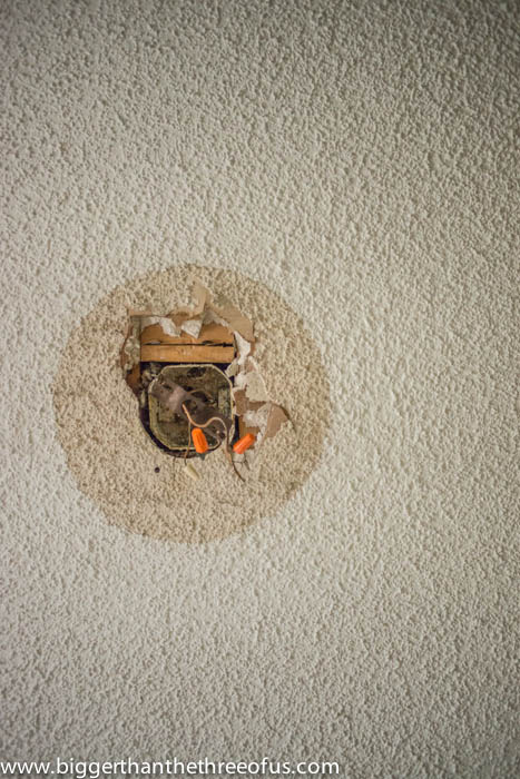 Patch A Drywall Hole And Popcorn Ceiling