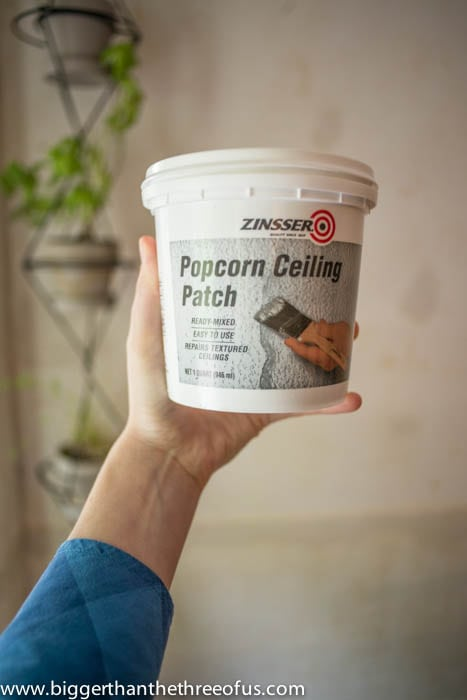 Popcorn ceiling textures in the container