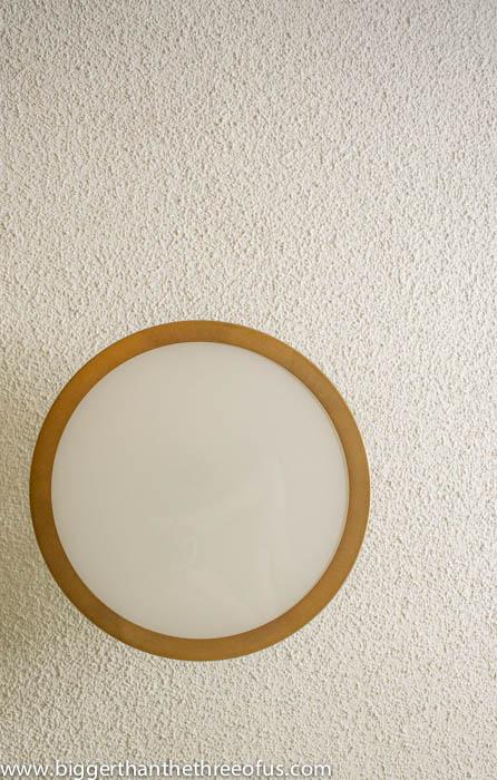Brass lighting for DIY kitchen remodel