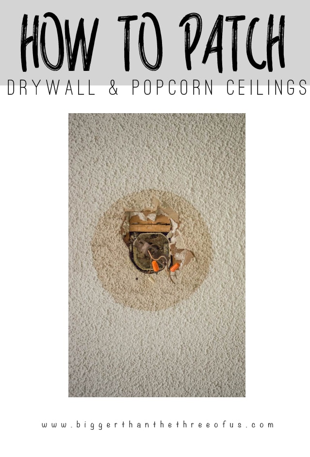 You can repair your ceiling with drywall and popcorn. It's a simple DIY. This tutorial will show you how.