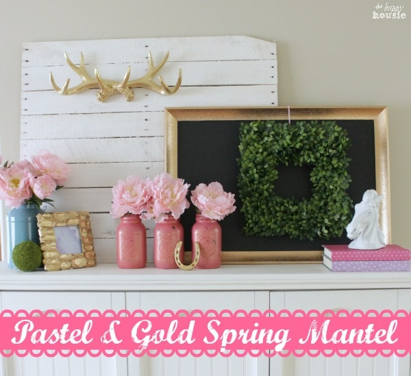 Pastel-Gold-Spring-Mantel-with-Balsam-Hill-Boxwood-Wreath-at-The-Happy-Housie-3-