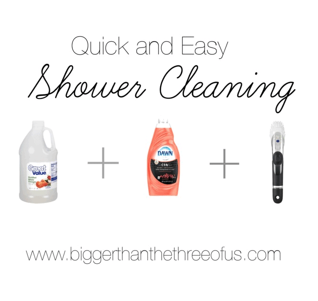 A quick and Easy shower cleaning method