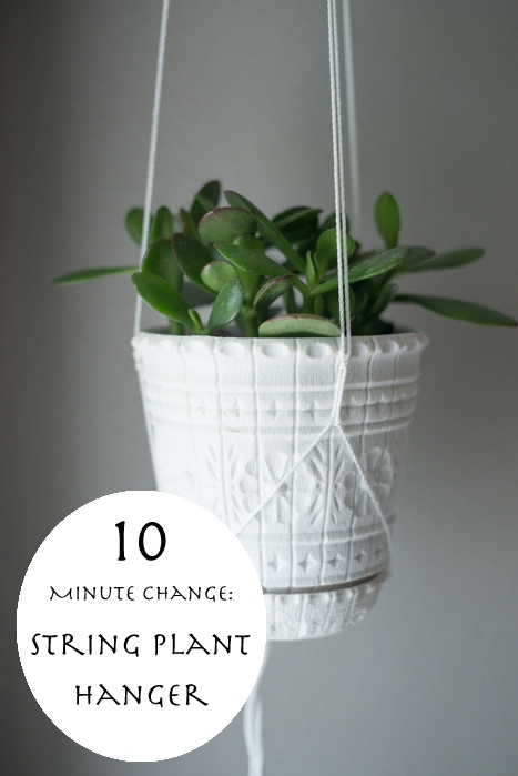 ten minute change make a string plant hanger