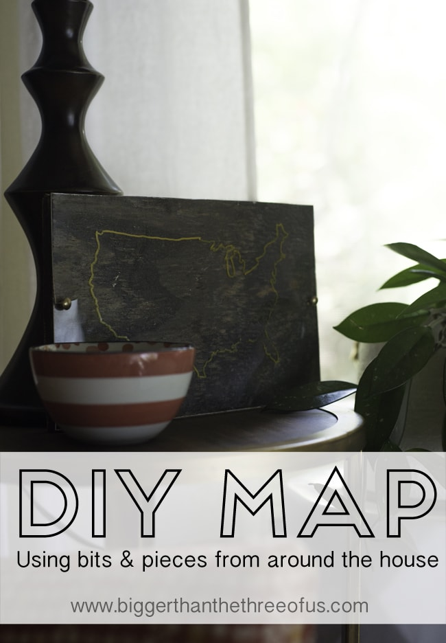 DIY Wood and Gold United States Map by Bigger Than The Three Of Us