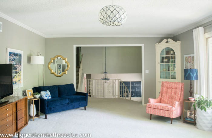 Living Room with Bright White Trim