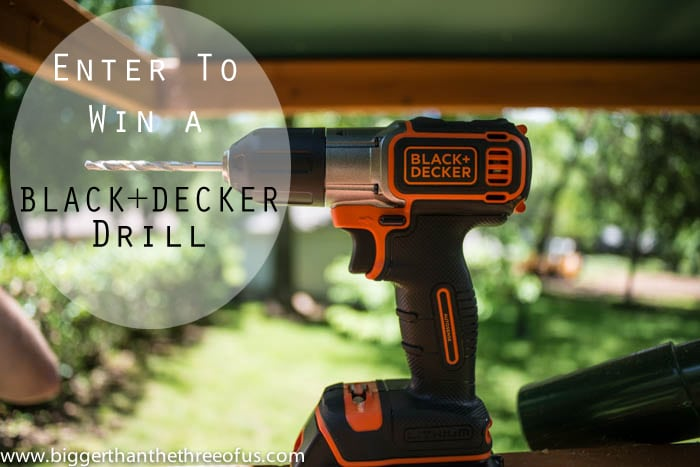 Enter to Win a Black+Decker Drill