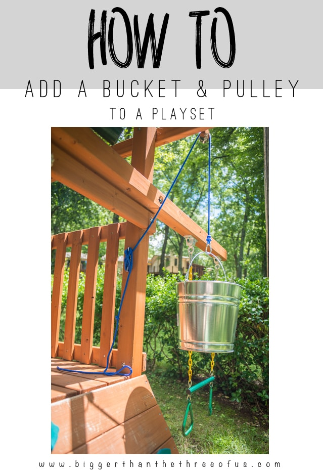 This tutorial will show you how to add a BUCKET and Pulley to a playset in a few easy steps!