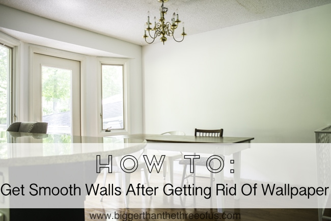 Smooth your Walls After Wallpaper #DIY #kitchenremodel