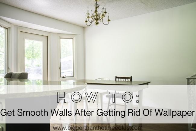 Smooth your Walls After Wallpaper #DIY #kitchenremodel