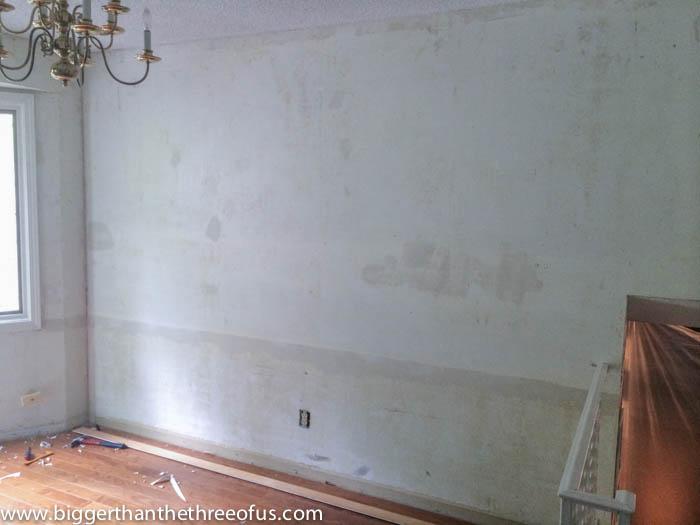 Uneven walls before sanding