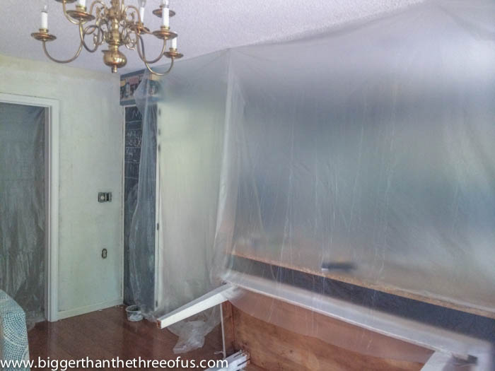 Hang Plastic Sheeting around room before Sanding to minimize mess