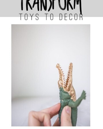Use gold leaf to transform old toys to cool decor pieces!