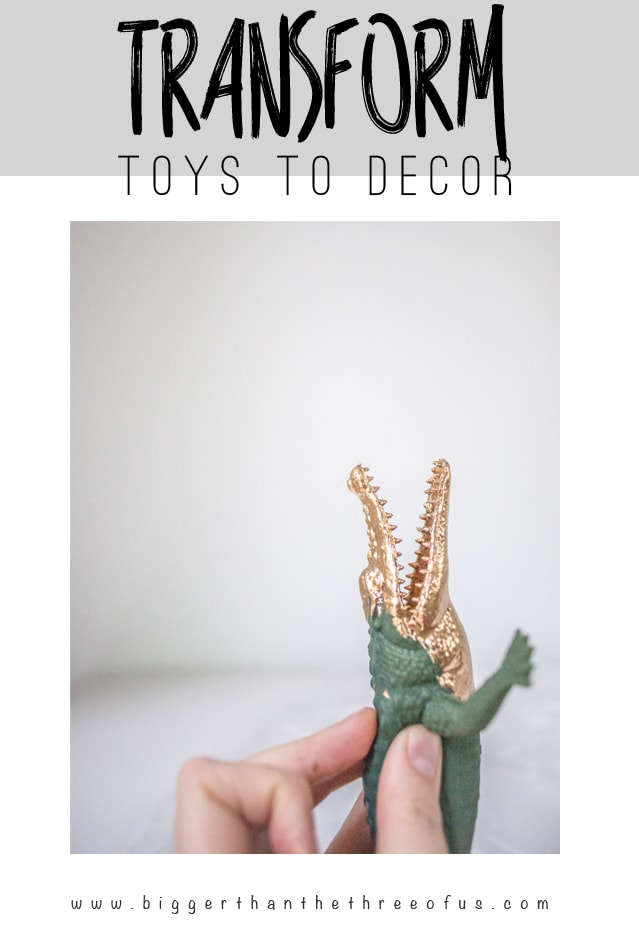 Use gold leaf to transform a Plastic toy as decor